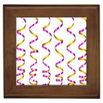 Tape Birthday Ribbon Party Yellow Purple Framed Tiles Front