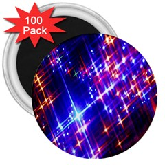 Star Light Space Planet Rainbow Sky Blue Red Purple 3  Magnets (100 Pack) by Jojostore
