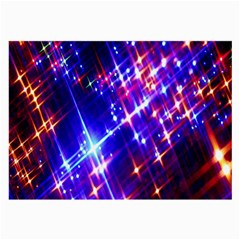 Star Light Space Planet Rainbow Sky Blue Red Purple Large Glasses Cloth (2 Side) by Jojostore