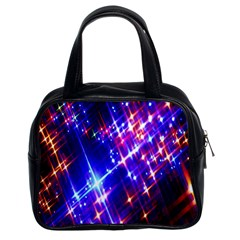 Star Light Space Planet Rainbow Sky Blue Red Purple Classic Handbags (2 Sides) by Jojostore