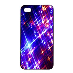 Star Light Space Planet Rainbow Sky Blue Red Purple Apple Iphone 4/4s Seamless Case (black) by Jojostore