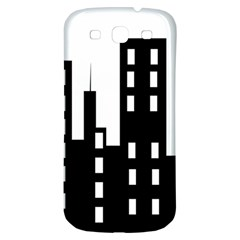 Tower City Town Building Black Samsung Galaxy S3 S Iii Classic Hardshell Back Case by Jojostore