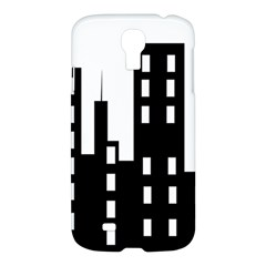 Tower City Town Building Black Samsung Galaxy S4 I9500/i9505 Hardshell Case by Jojostore