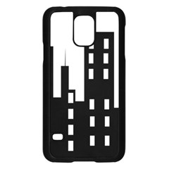 Tower City Town Building Black Samsung Galaxy S5 Case (black) by Jojostore