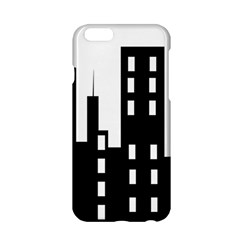 Tower City Town Building Black Apple Iphone 6/6s Hardshell Case by Jojostore