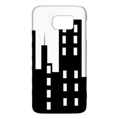 Tower City Town Building Black Galaxy S6 by Jojostore