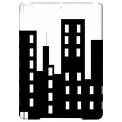 Tower City Town Building Black Apple Ipad Pro 9 7   Hardshell Case by Jojostore