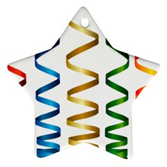 Tape Birthday Ribbon Party Yellow Red Blue Green Gold Rainbow Ornament (star) by Jojostore