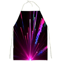 Happy New Year City Semmes Fireworks Rainbow Red Blue Purple Sky Full Print Aprons