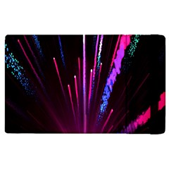 Happy New Year City Semmes Fireworks Rainbow Red Blue Purple Sky Apple Ipad 3/4 Flip Case by Jojostore