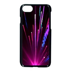 Happy New Year City Semmes Fireworks Rainbow Red Blue Purple Sky Apple Iphone 7 Seamless Case (black)
