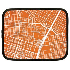 Texsas New York Map Art City Line Street Netbook Case (xl)  by Jojostore