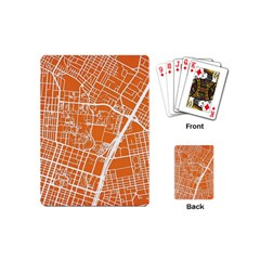 Texsas New York Map Art City Line Street Playing Cards (mini)  by Jojostore