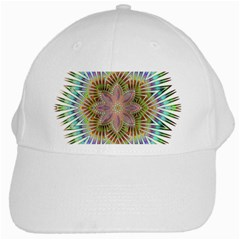 Star Flower Glass Sexy Chromatic Symmetric White Cap by Jojostore
