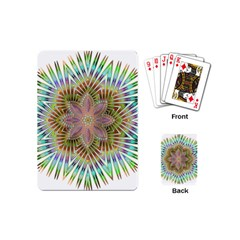 Star Flower Glass Sexy Chromatic Symmetric Playing Cards (mini)  by Jojostore