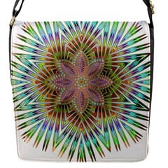 Star Flower Glass Sexy Chromatic Symmetric Flap Messenger Bag (s) by Jojostore