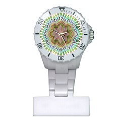 Star Flower Glass Sexy Chromatic Symmetric Plastic Nurses Watch by Jojostore