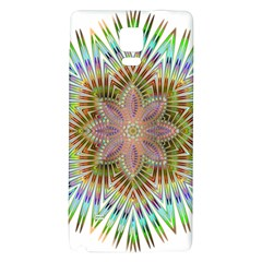 Star Flower Glass Sexy Chromatic Symmetric Galaxy Note 4 Back Case
