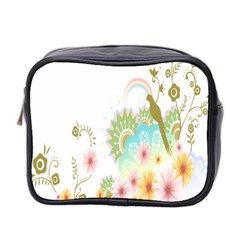 Wreaths Sexy Flower Star Leaf Rose Sunflower Bird Summer Mini Toiletries Bag 2 Side by Mariart