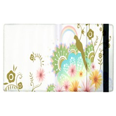 Wreaths Sexy Flower Star Leaf Rose Sunflower Bird Summer Apple Ipad 3/4 Flip Case by Mariart