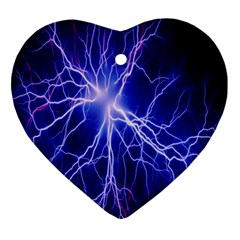 Blue Sky Light Space Heart Ornament (two Sides) by Mariart