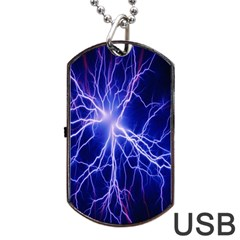 Blue Sky Light Space Dog Tag Usb Flash (two Sides) by Mariart