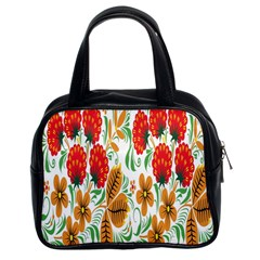 Flower Floral Red Yellow Leaf Green Sexy Summer Classic Handbags (2 Sides) by Mariart