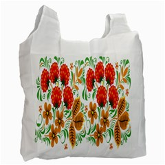 Flower Floral Red Yellow Leaf Green Sexy Summer Recycle Bag (two Side)  by Mariart