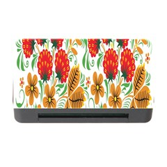 Flower Floral Red Yellow Leaf Green Sexy Summer Memory Card Reader With Cf