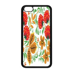 Flower Floral Red Yellow Leaf Green Sexy Summer Apple Iphone 5c Seamless Case (black) by Mariart