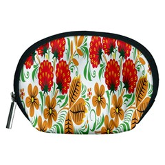 Flower Floral Red Yellow Leaf Green Sexy Summer Accessory Pouches (medium)  by Mariart