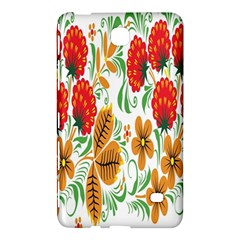 Flower Floral Red Yellow Leaf Green Sexy Summer Samsung Galaxy Tab 4 (8 ) Hardshell Case  by Mariart