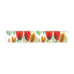 Flower Floral Red Yellow Leaf Green Sexy Summer Flano Scarf (mini) by Mariart