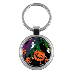 Happy Halloween Key Chains (round)  by Mariart