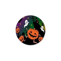 Happy Halloween Golf Ball Marker (4 Pack) by Mariart