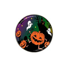 Happy Halloween Hat Clip Ball Marker (10 Pack) by Mariart