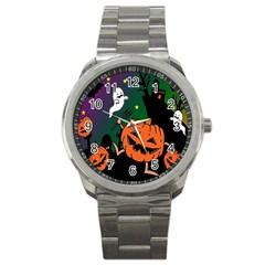 Happy Halloween Sport Metal Watch by Mariart