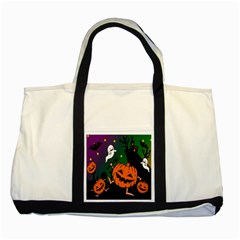 Happy Halloween Two Tone Tote Bag