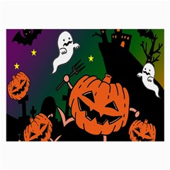 Happy Halloween Large Glasses Cloth (2 Side) by Mariart