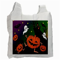 Happy Halloween Recycle Bag (two Side)  by Mariart