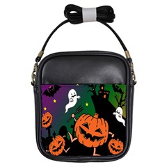 Happy Halloween Girls Sling Bags by Mariart