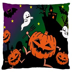 Happy Halloween Large Cushion Case (two Sides) by Mariart