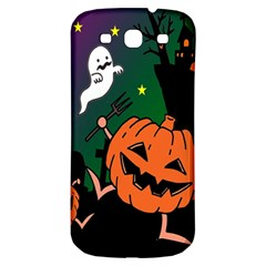 Happy Halloween Samsung Galaxy S3 S Iii Classic Hardshell Back Case by Mariart