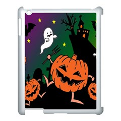Happy Halloween Apple Ipad 3/4 Case (white) by Mariart