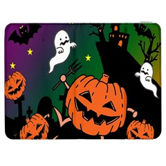 Happy Halloween Samsung Galaxy Tab 7  P1000 Flip Case by Mariart