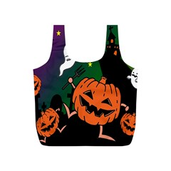 Happy Halloween Full Print Recycle Bags (s)  by Mariart