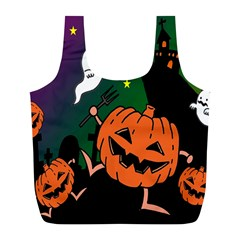 Happy Halloween Full Print Recycle Bags (l)  by Mariart