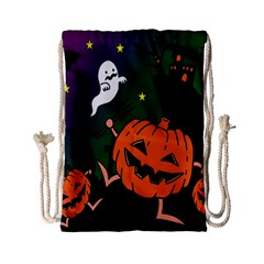 Happy Halloween Drawstring Bag (small) by Mariart