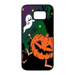 Happy Halloween Samsung Galaxy S7 Edge Black Seamless Case by Mariart