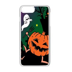 Happy Halloween Apple Iphone 7 Plus White Seamless Case by Mariart